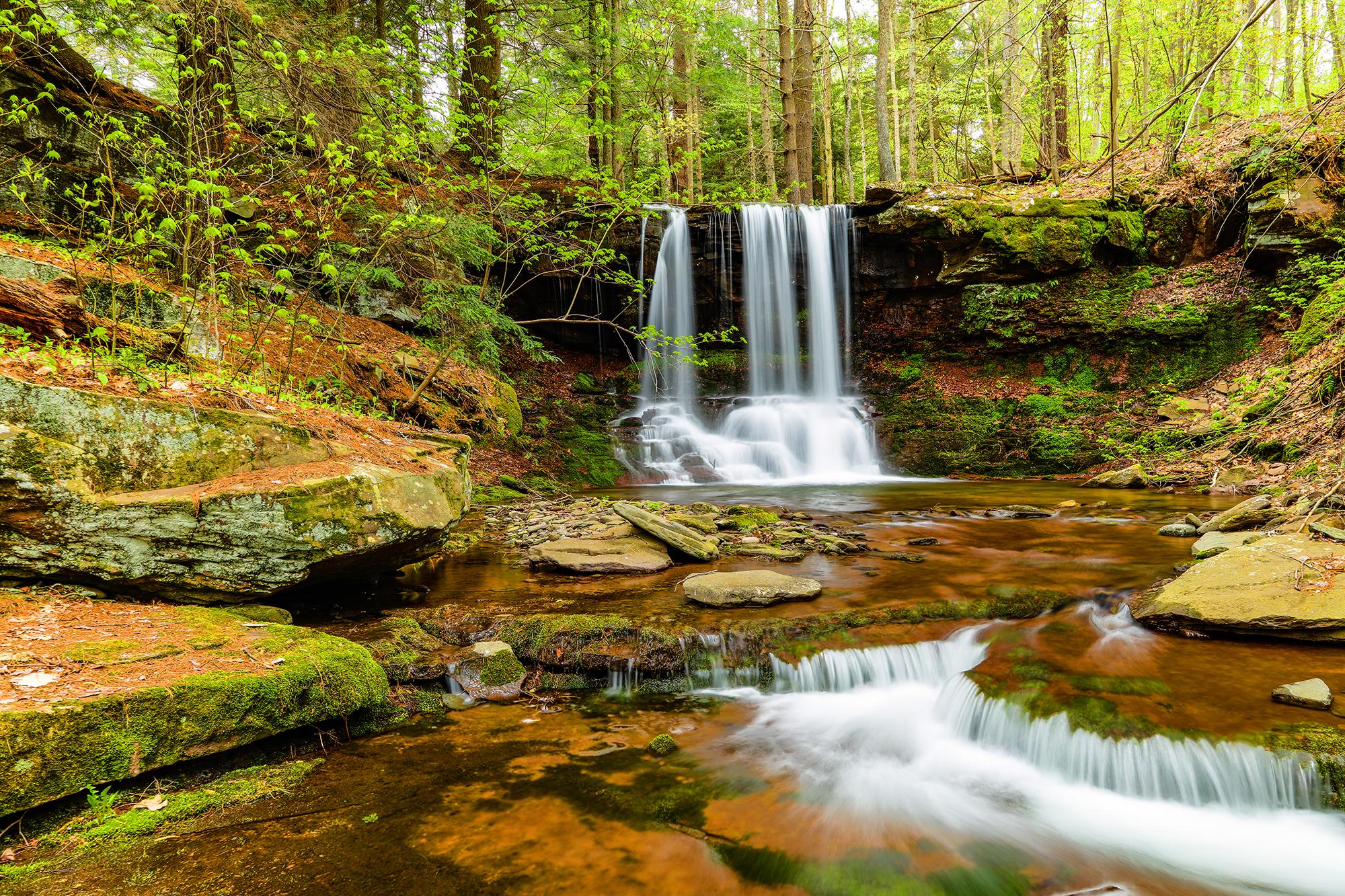 Diamond Noth. Waterfalls