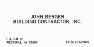 john berger building contractor