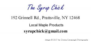 The syrup Chick
